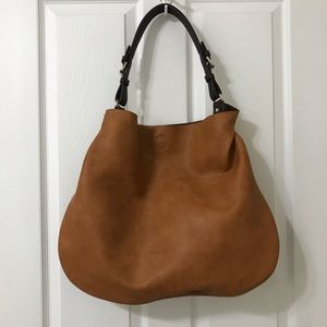 Sole Society X-Large Tote Cosmetic Bag Cognac NWOT